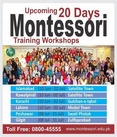 Upcoming 20 Days Montessori Teachers Training Workshops