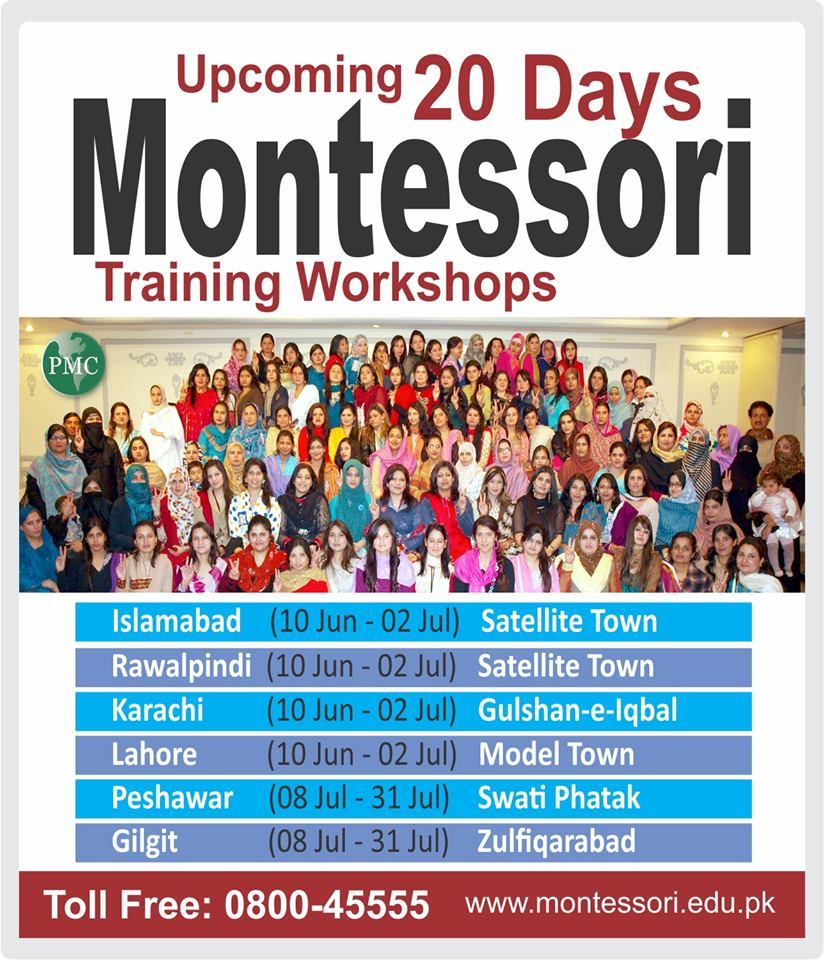 Upcoming 20 Days Montessori Teachers Training Workshops